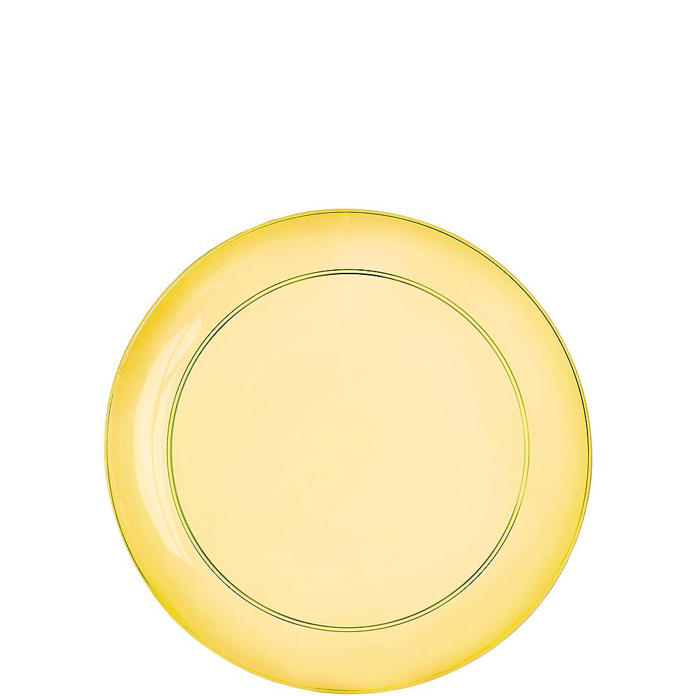 Gold, Green & Purple Dessert Plates 32ct Image #3