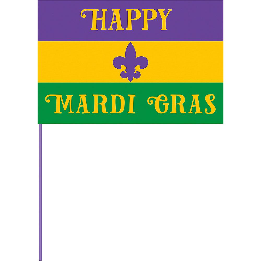 Happy Mardi Gras Flag Image #1