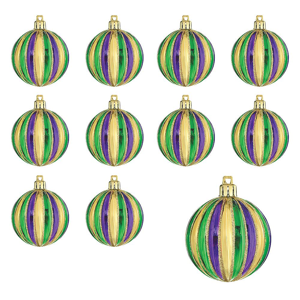 Mardi Gras Ornaments 6ct Image #1