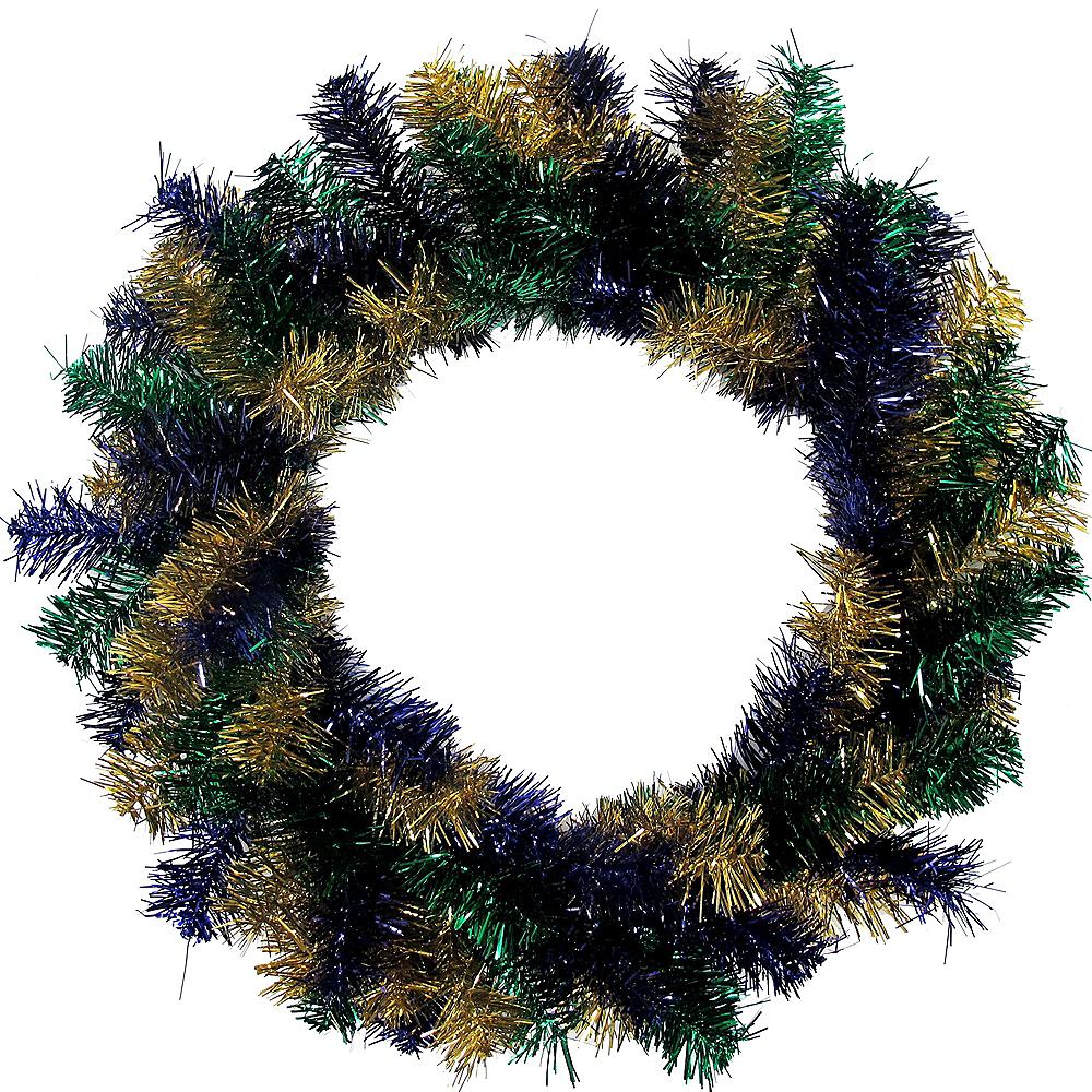 Mardi Gras Tinsel Wreath Image #1