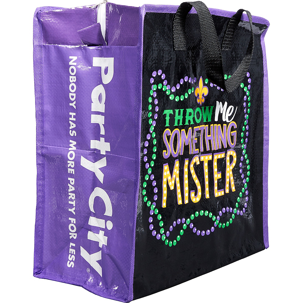 Bead Necklace Mardi Gras Tote Bags 5ct Image #1