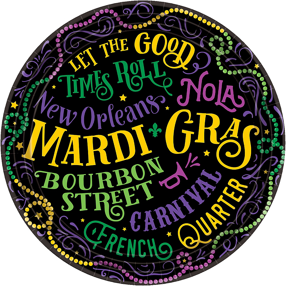 Nav Item for Good Times Mardi Gras Lunch Plates 60ct Image #1