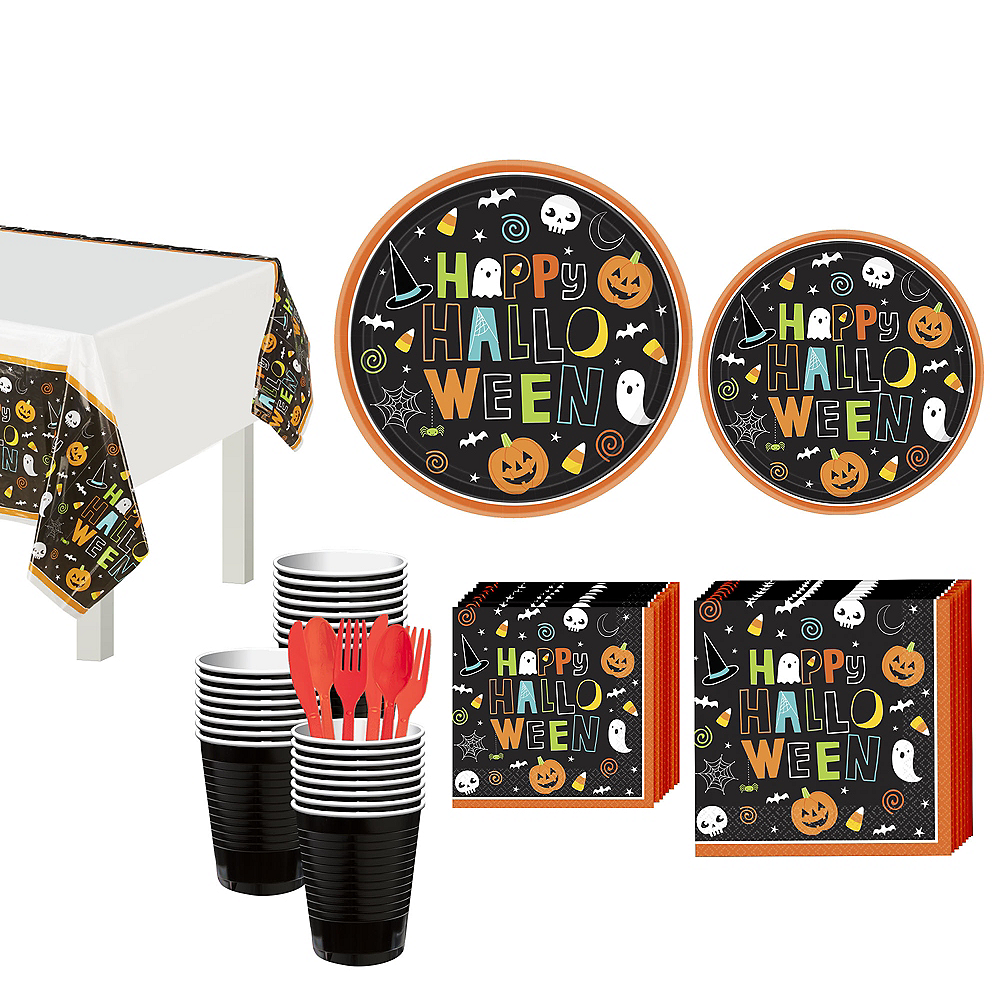 Halloween Friends Tableware Kit for 50 Guests Image #1