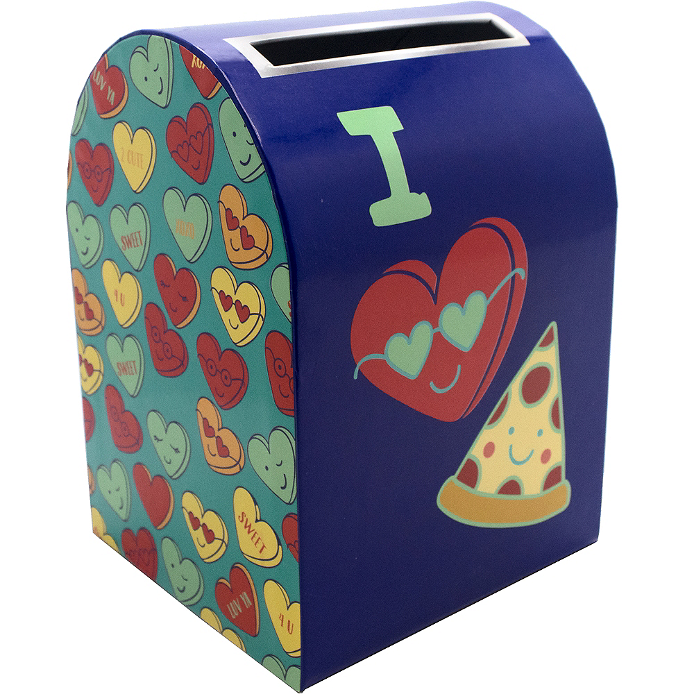 Nav Item for I Heart Pizza Valentine Mailbox Image #1