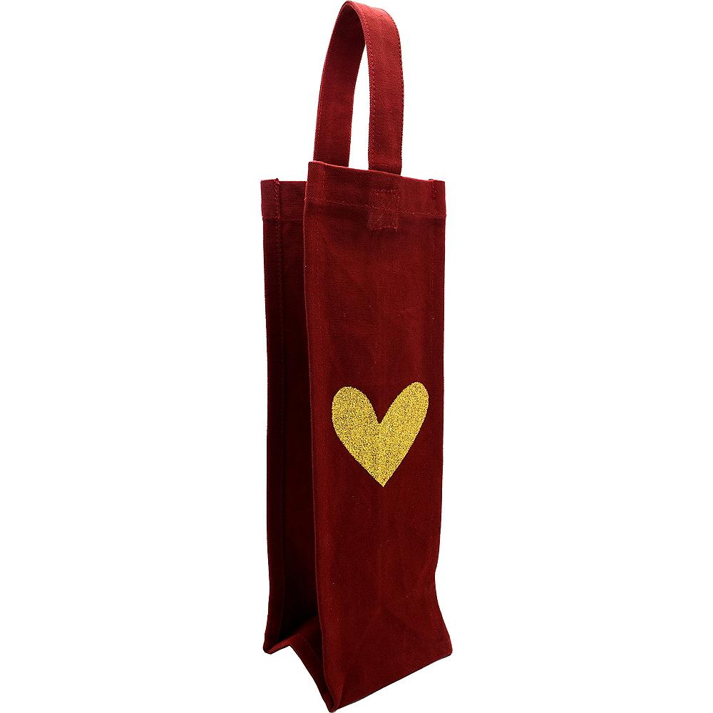 Gold Heart Fabric Bottle Bag Image #1