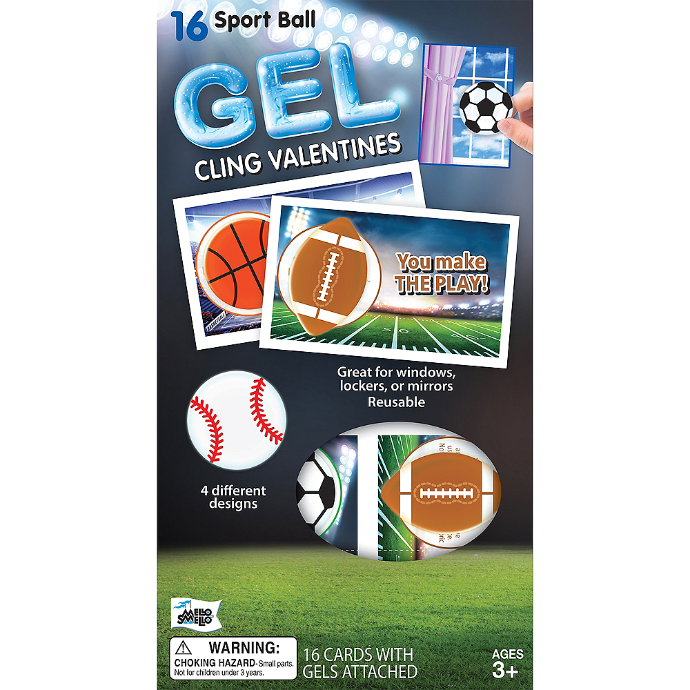 Sports Valentine Exchange Cards With Favors 16ct