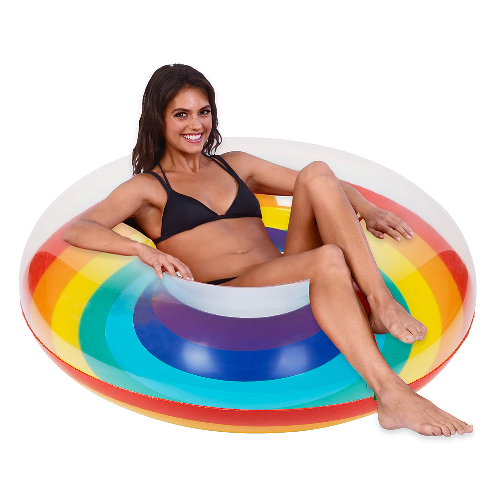 Giant Rainbow Pool Float Image #1