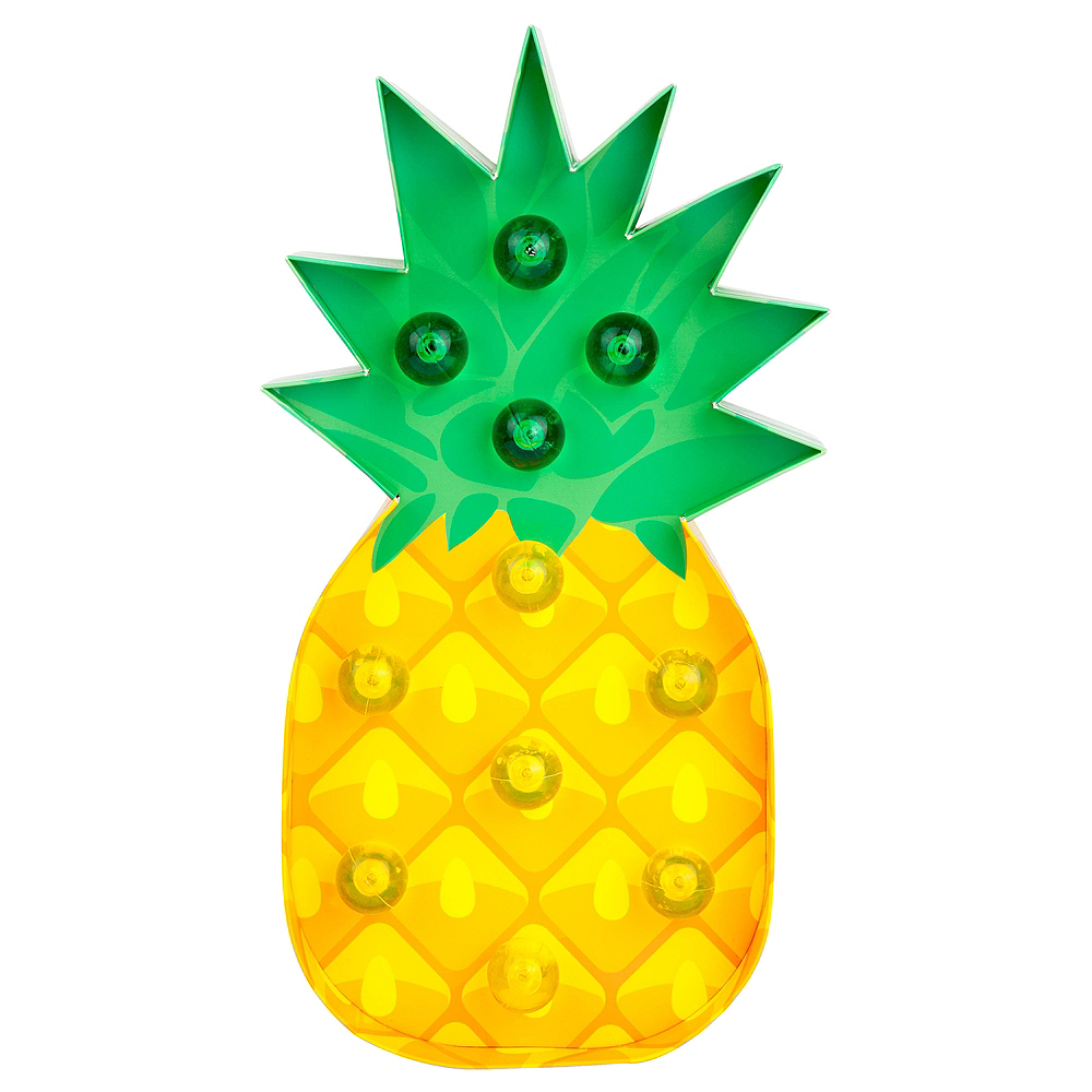 Light-Up Pineapple Marquee Sign Image #1