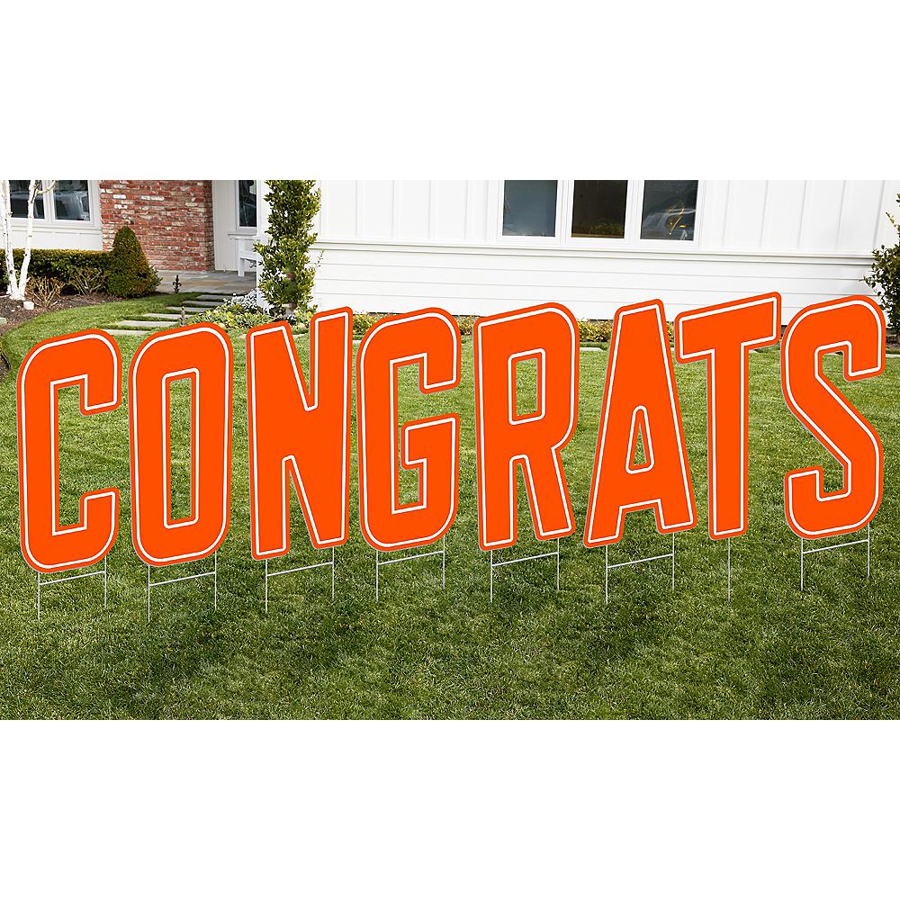 Orange Congrats Letter Outdoor Sign Kit Image #1