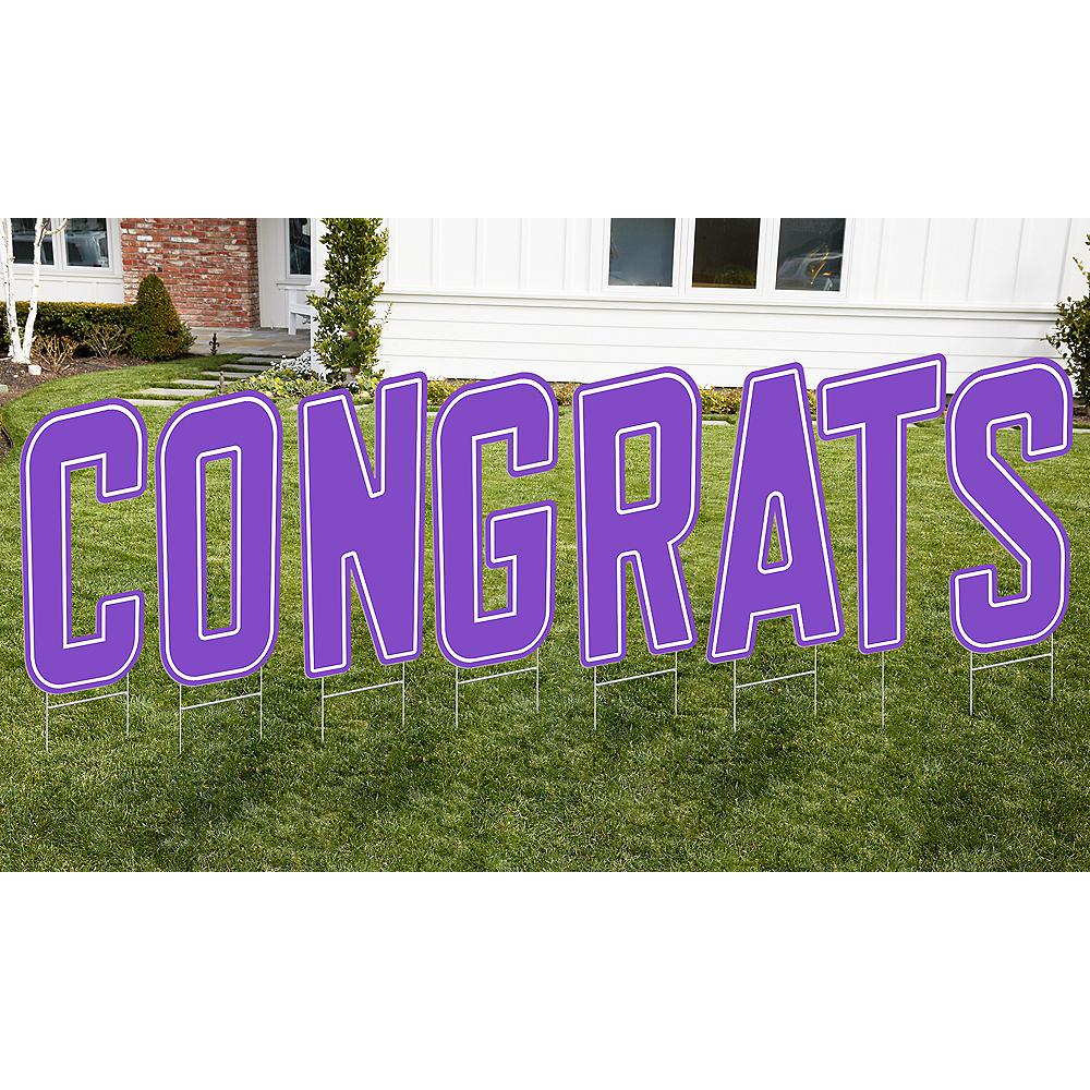 Purple Congrats Letter Outdoor Sign Kit Image #1