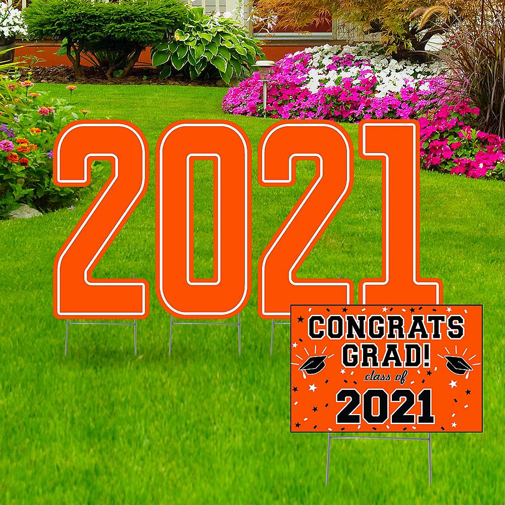 Giant Orange Graduation 2019 Number Outdoor Sign Kit Image #1