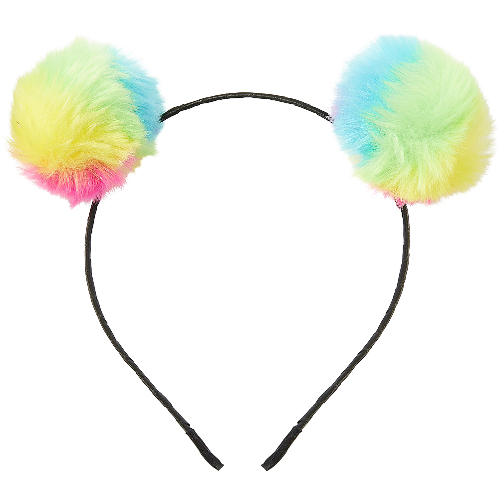 Nav Item for Child Rainbow Pom-Pom Headband Image #1