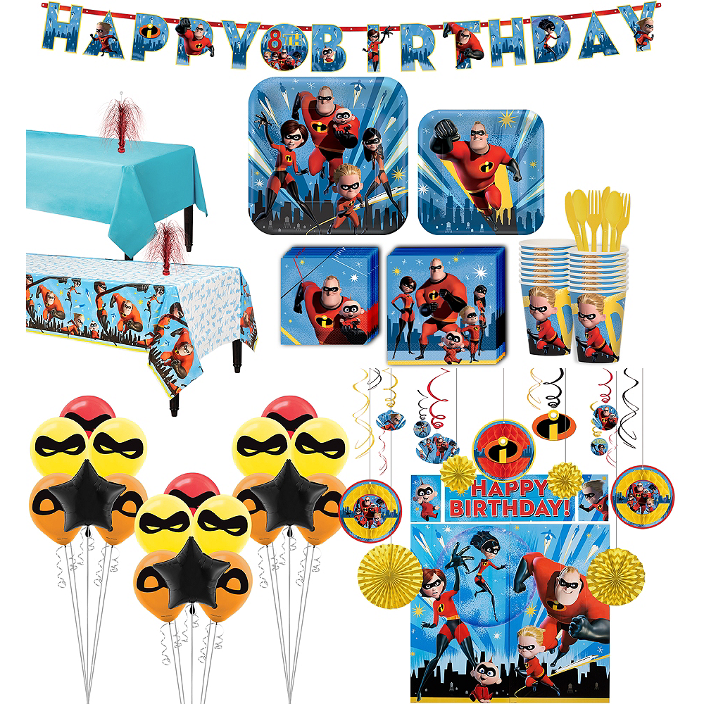 Ultimate Incredibles 2 Party Kit for 16 Guests Image #1