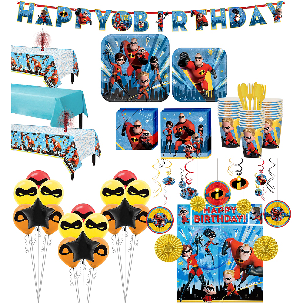 Ultimate Incredibles 2 Party Kit for 24 Guests Image #1