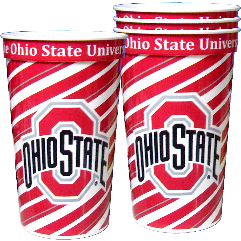 Ohio State Buckeyes Plastic Cups 4ct Image #1