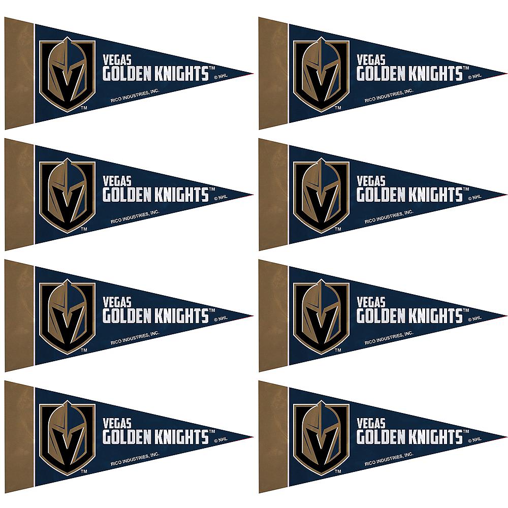 Vegas Golden Knights Pennants 8ct Image #1