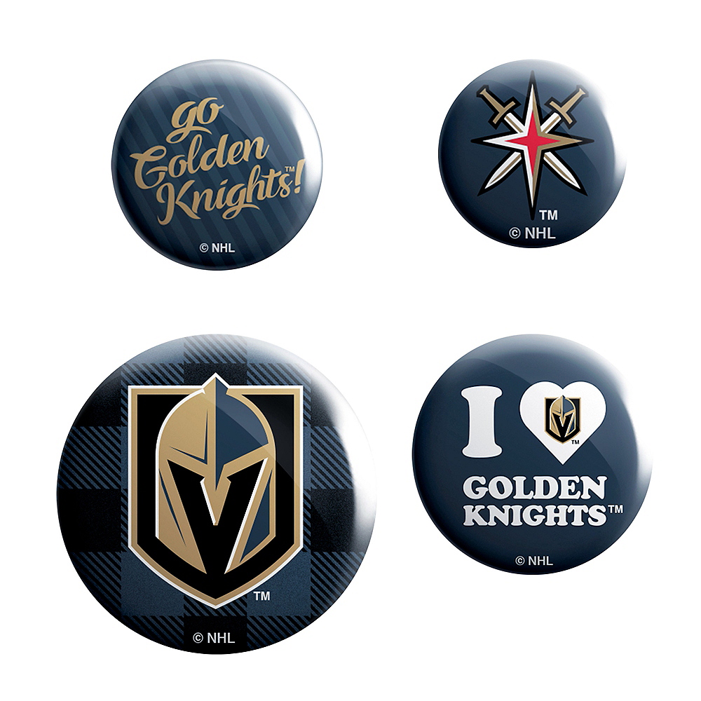 Vegas Golden Knights Buttons 4ct Image #1