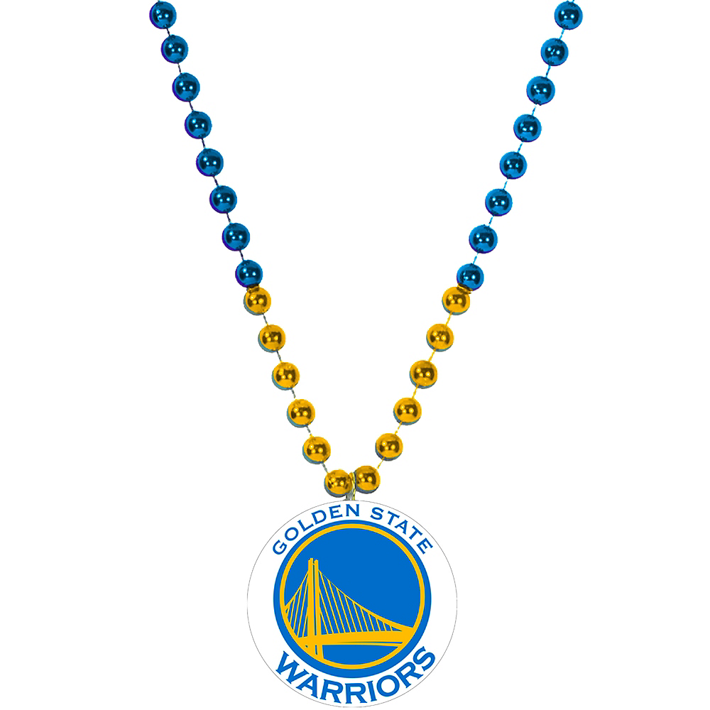 Golden State Warriors Pendant Bead Necklace Image #1
