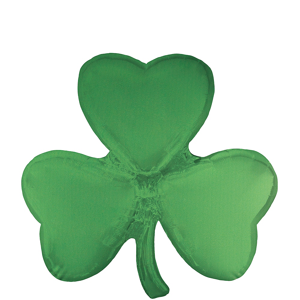 Giant Shamrock-Shaped Foil Balloon, 29in Image #1