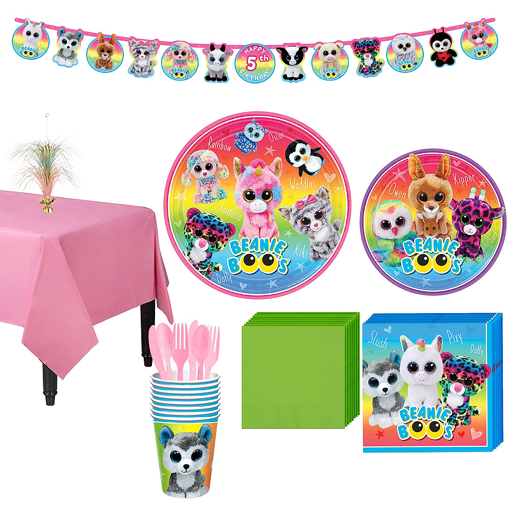 Beanie Boo's Party Kit for 8 Guests Image #1