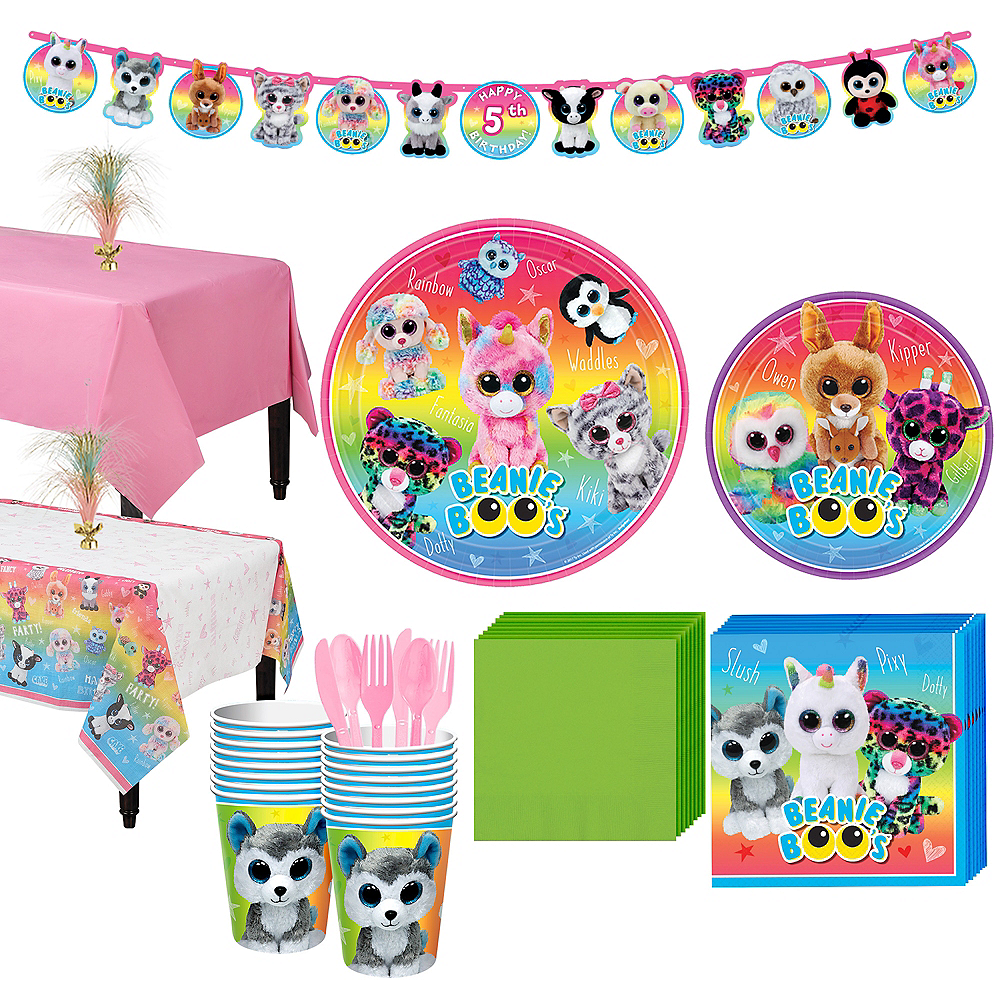 Beanie Boo's Party Kit for 16 Guests Image #1