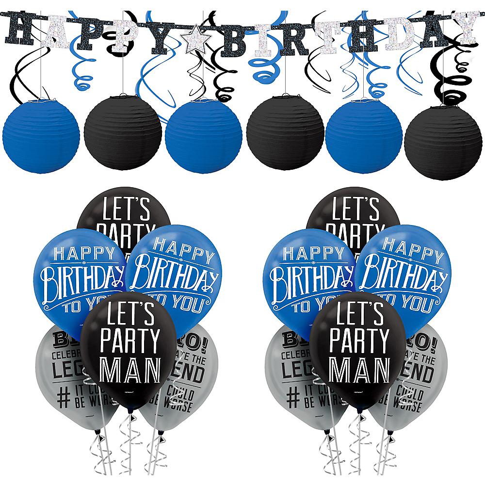 Happy Birthday Classic Decorating Kit With Balloons Image 1