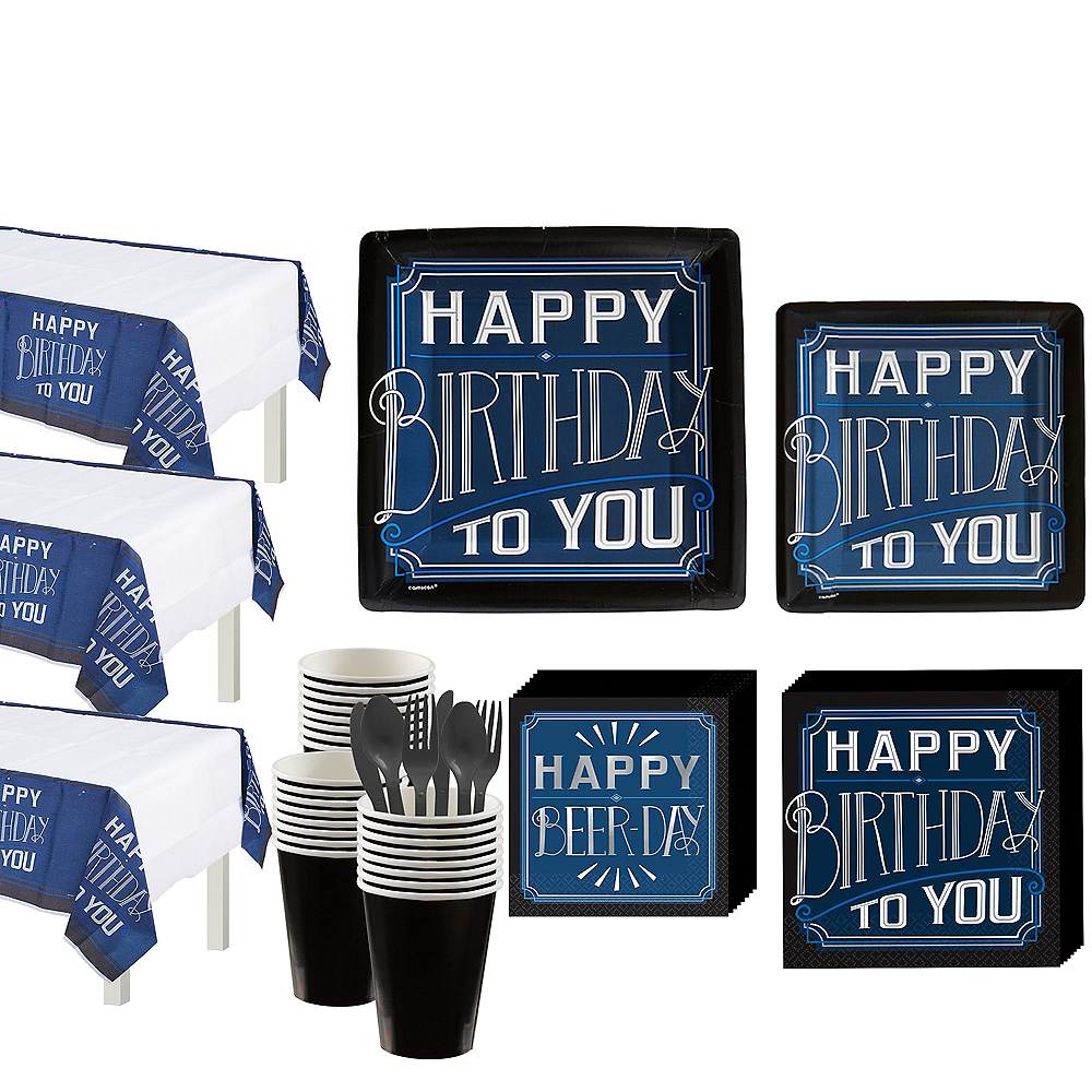 Happy Birthday Classic Party Kit for 32 Guests Image #1