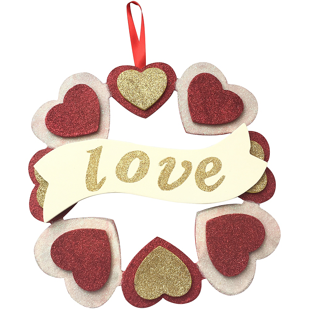 Glitter Love Heart Wreath Image #1