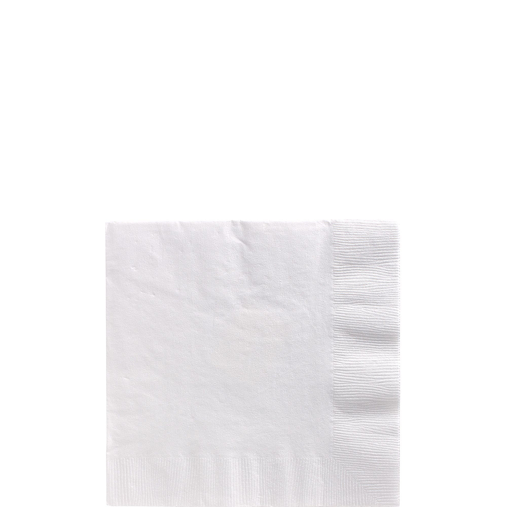 White Plastic Tableware Kit for 100 Guests Image #4