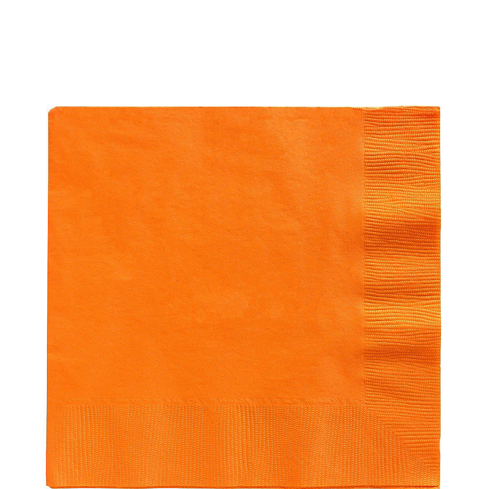 Orange Plastic Tableware Kit for 100 Guests Image #5