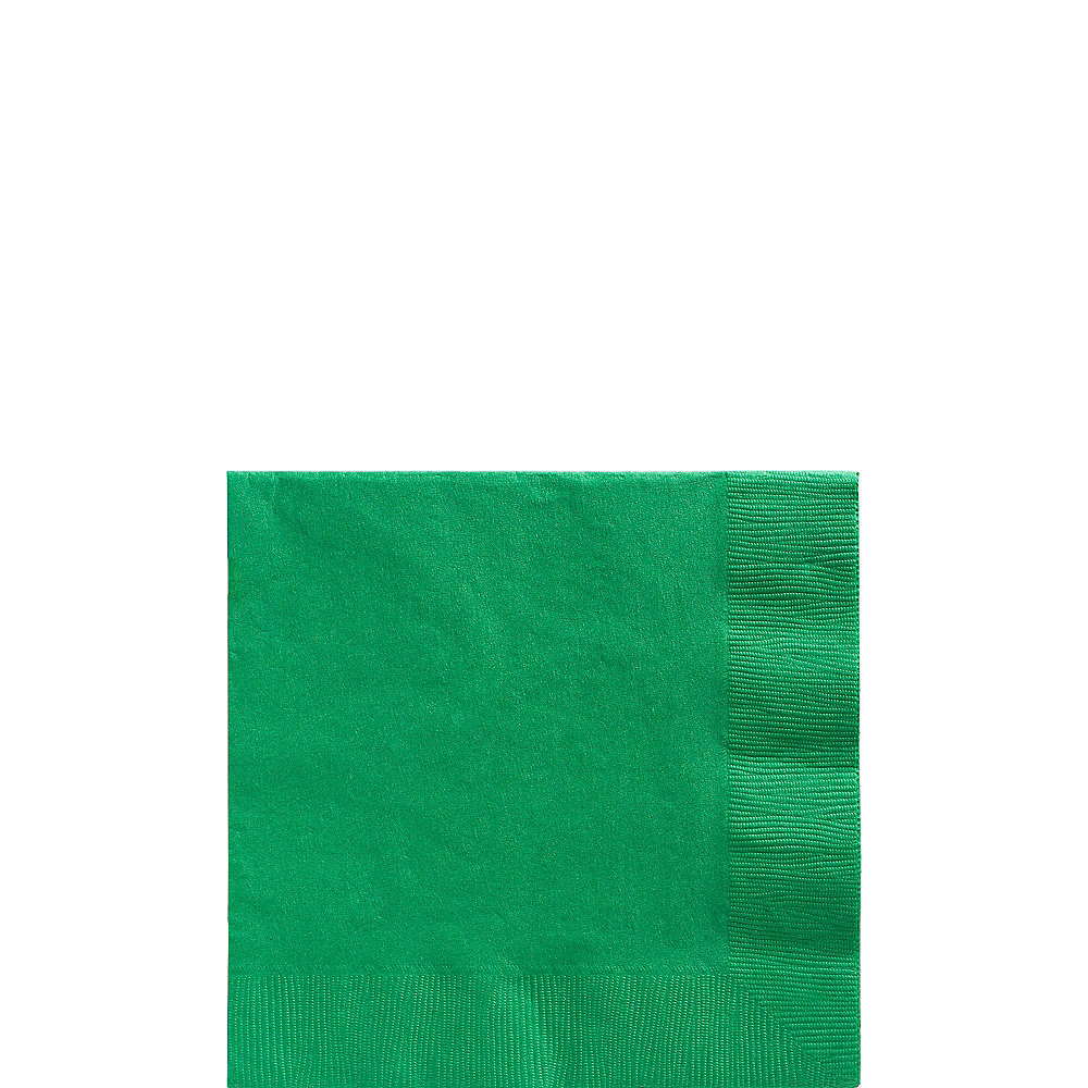 Festive Green Plastic Tableware Kit for 100 Guests Image #4