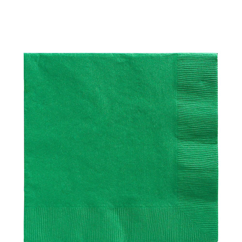 Festive Green Plastic Tableware Kit for 100 Guests Image #5