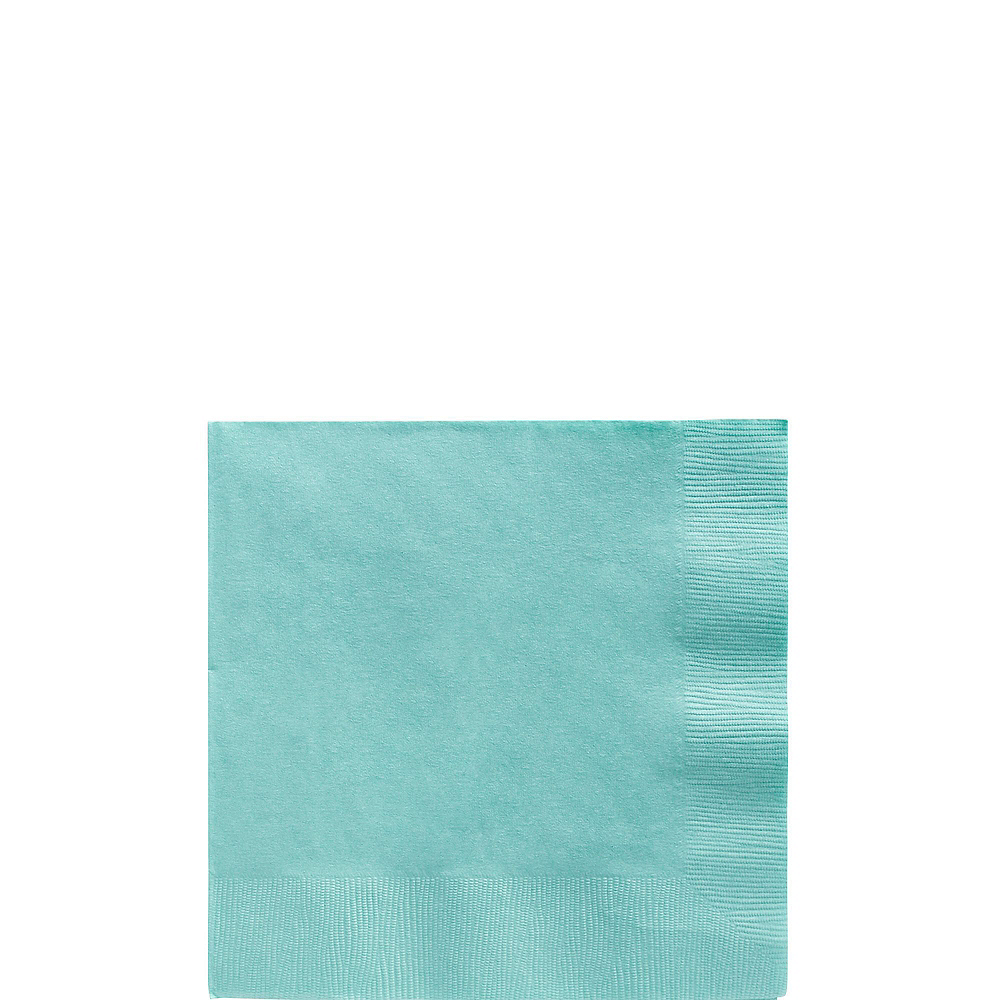 Robin's Egg Blue Plastic Tableware Kit for 100 Guests Image #4