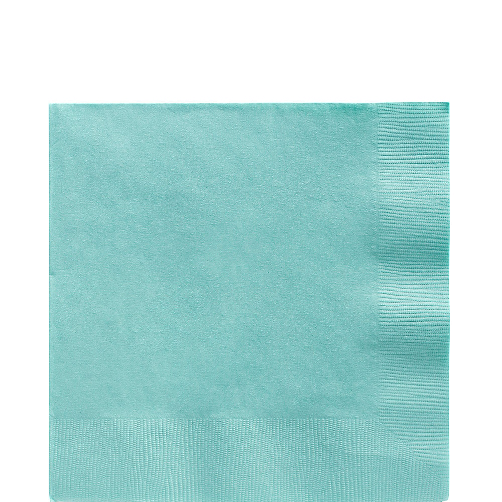 Robin's Egg Blue Plastic Tableware Kit for 100 Guests Image #5