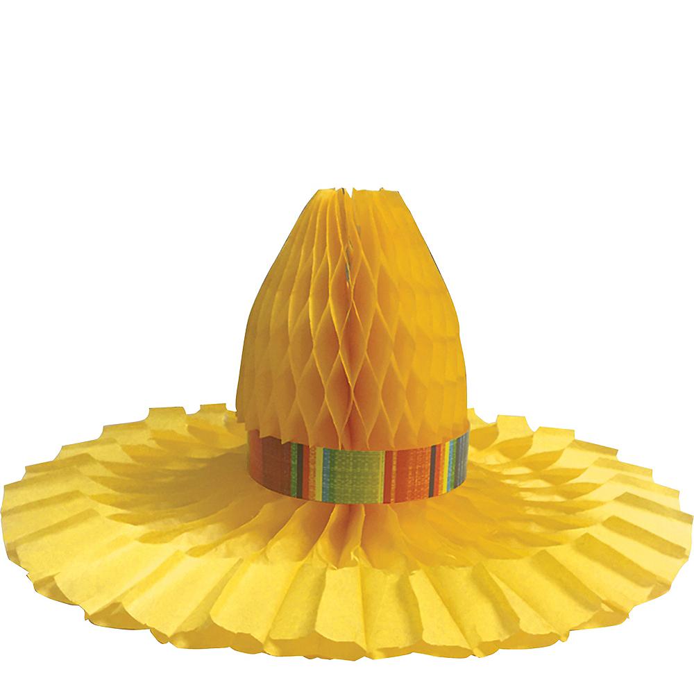 Serape Sombrero Honeycomb Centerpiece Image #1