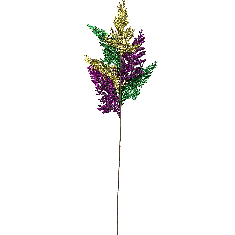 Branch Mardi Gras Spray Stem Image #1