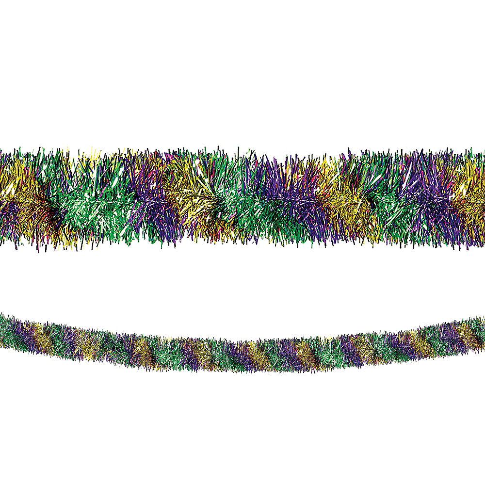 Nav Item for Gold, Green & Purple Boa Tinsel Garland Image #1