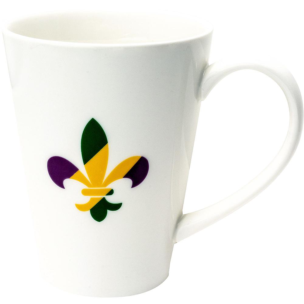 Fleur-de-Lis Mardi Gras Mug Image #1