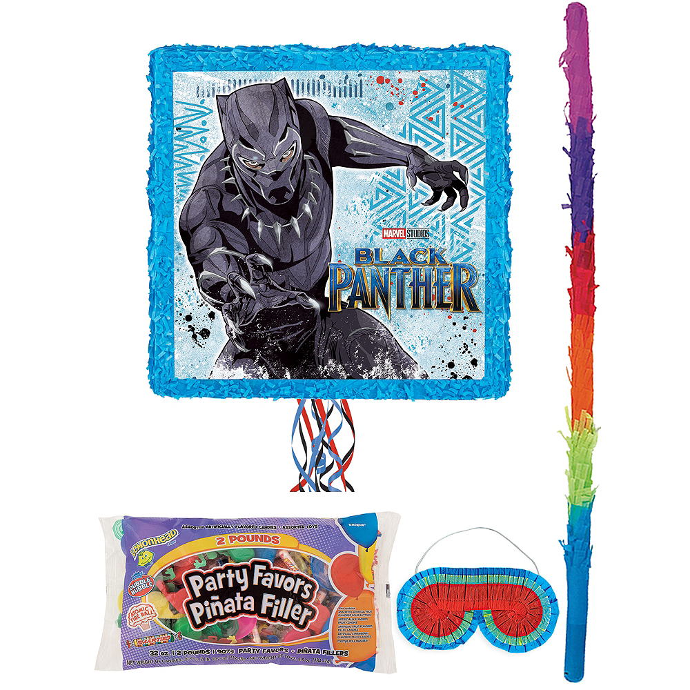Black Panther Pinata Kit with Candy & Favors Image #1