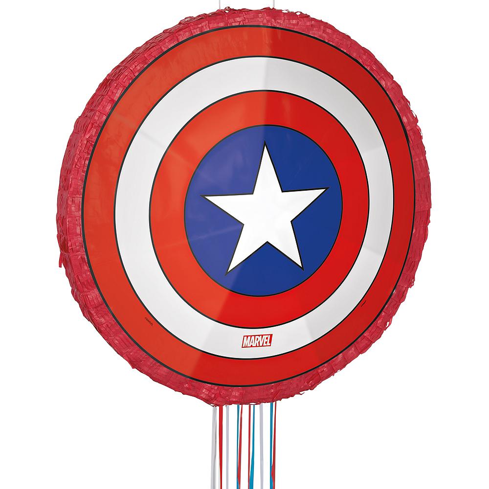 Pull String Captain America Shield Pinata Image #1