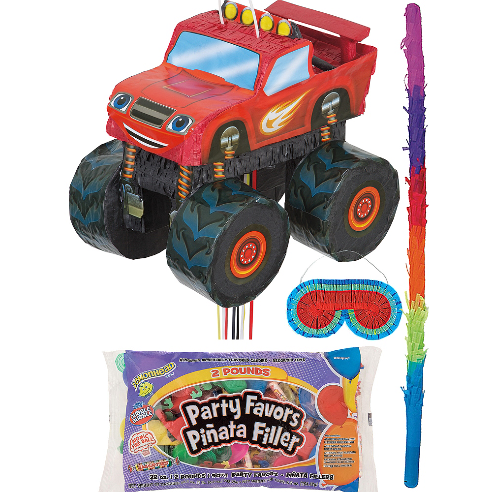 Blaze and the Monster Machines Truck Pinata Kit with Candy & Favors Image #1
