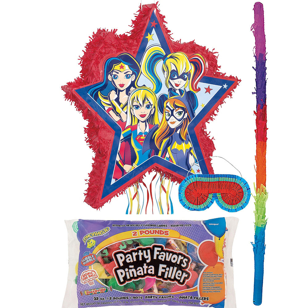 Super Hero Girls Pinata Kit with Candy & Favors Image #1