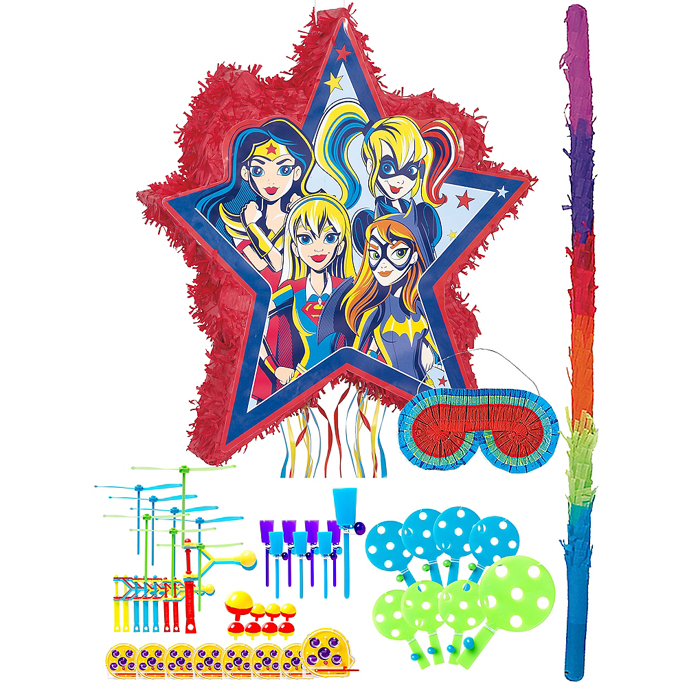 Super Hero Girls Pinata Kit with Favors Image #1
