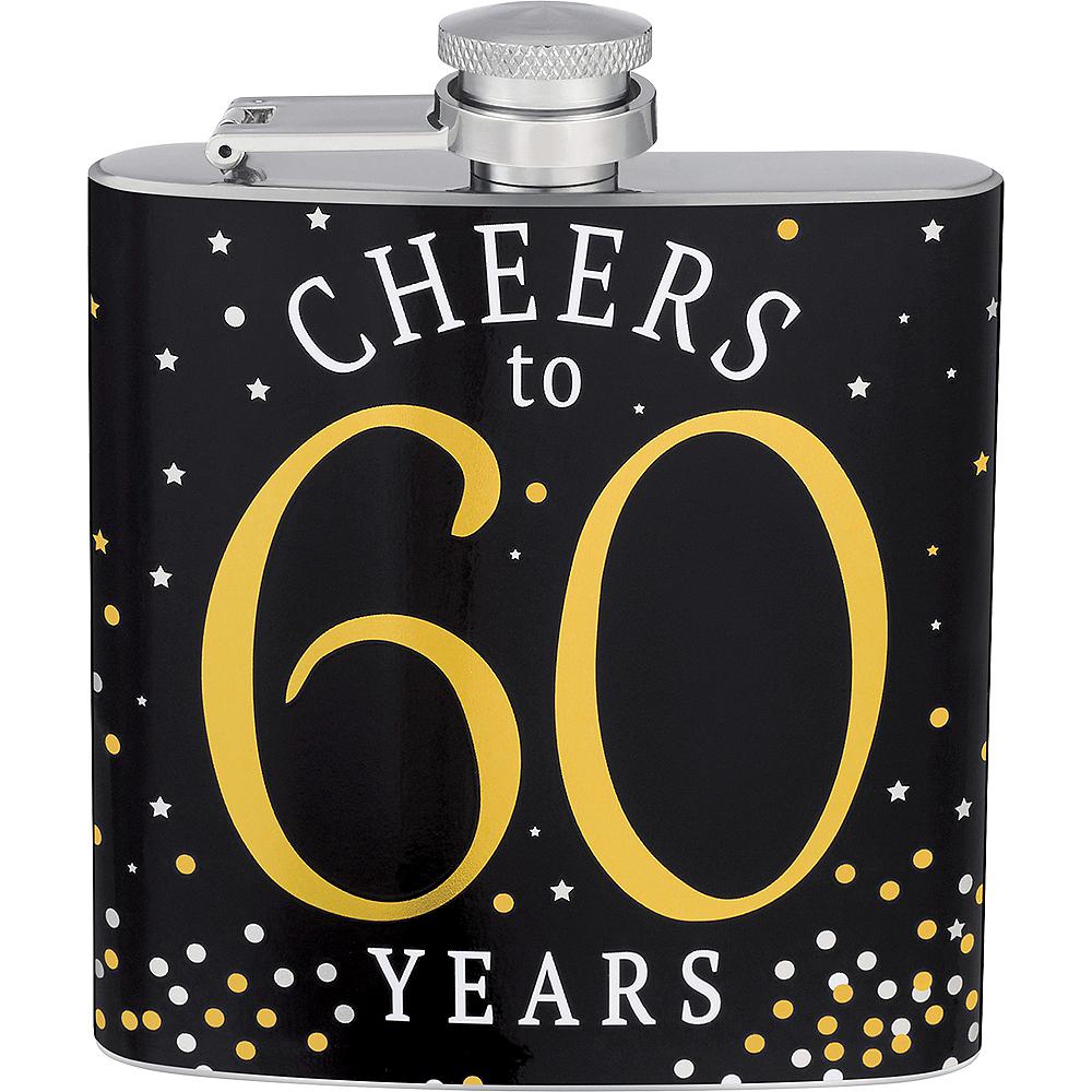 Milestone Birthday Cheers to 60 Years Flask Image #1
