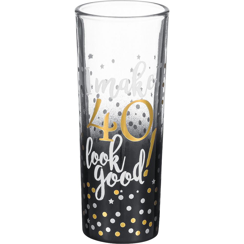 40th Milestone Birthday Shot Glass Image #1