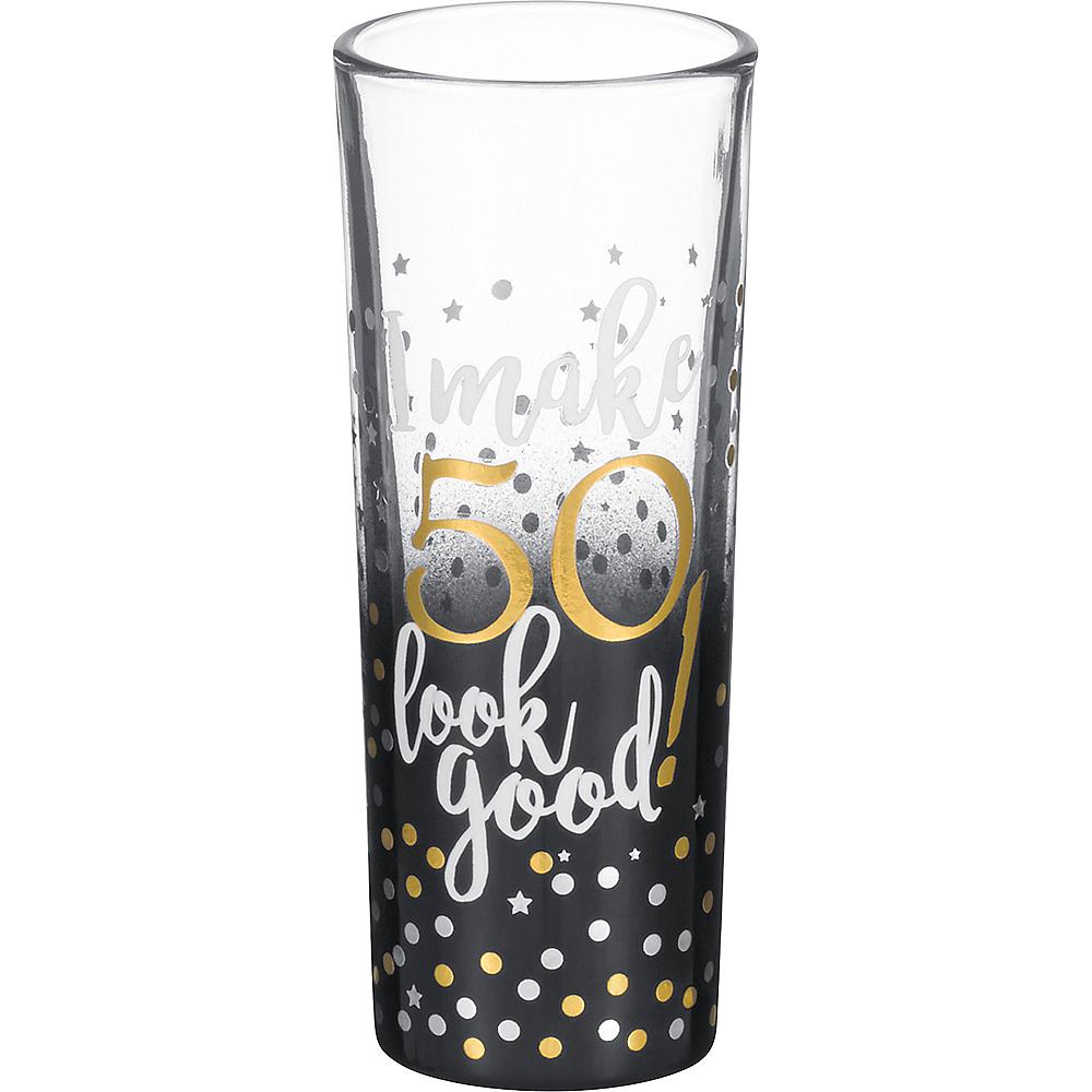 50th Milestone Birthday Shot Glass Image #1