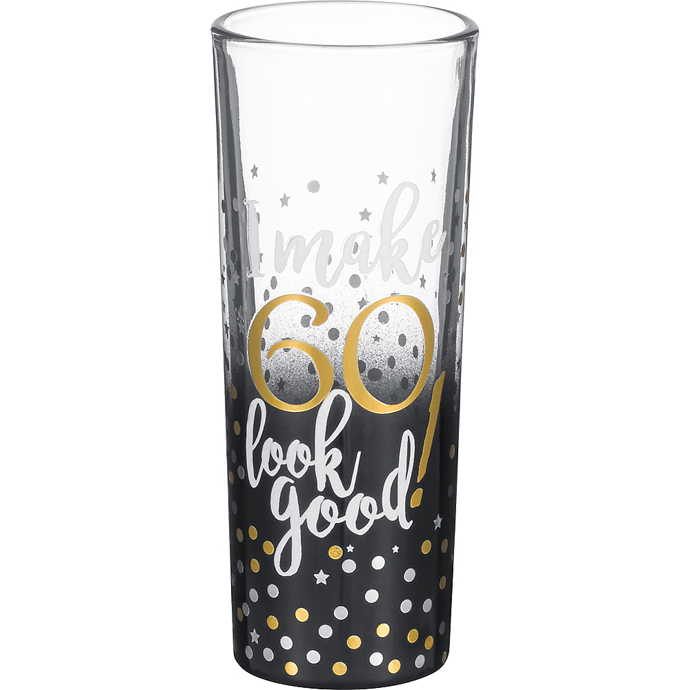 Grasslands 60th Milestone Birthday Shot Glass Image #1