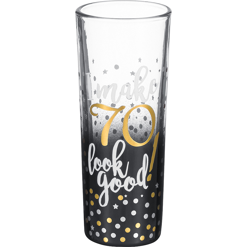 Nav Item for Grasslands 70th Milestone Birthday Shot Glass Image #1
