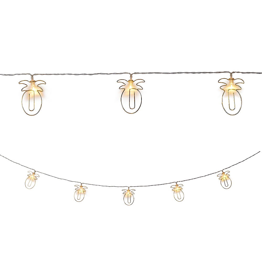 Gold Pineapple Clip LED String Lights Image #1