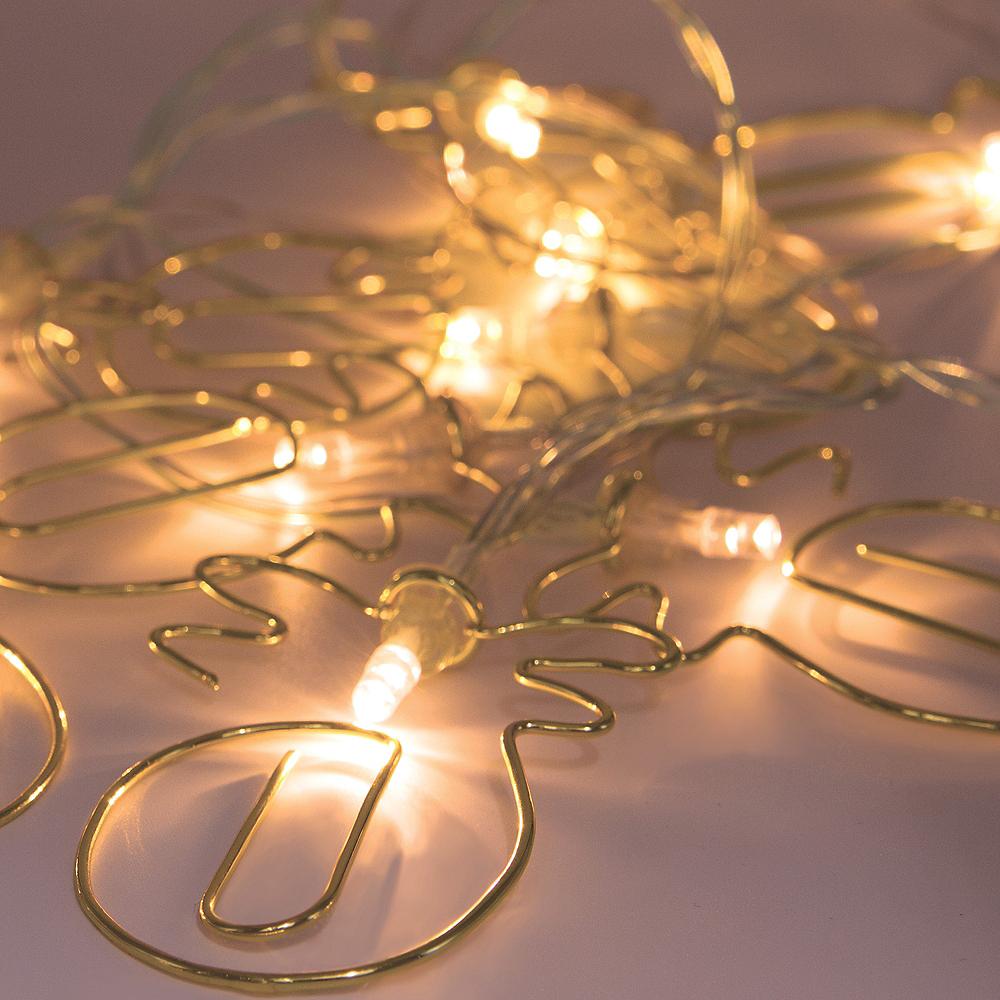 Gold Pineapple Clip LED String Lights Image #3